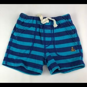 GAP Baby striped cotton shorts cyan blue 0-3 M